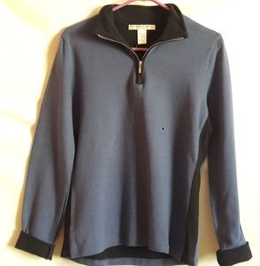 Geoffrey Beene Blue Sports Sweater Medium